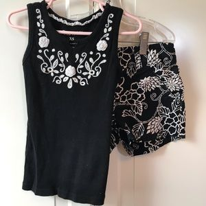 OLD NAVY black and white matching set